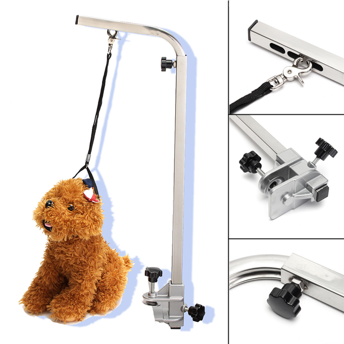 1PC Portable Adjustable Metal Table Arm Support Holder For Pet Dog Grooming Bath Table Desk1PC Portable Adjustable Metal Table Arm Support Holder For Pet Dog Grooming Bath Table Desk