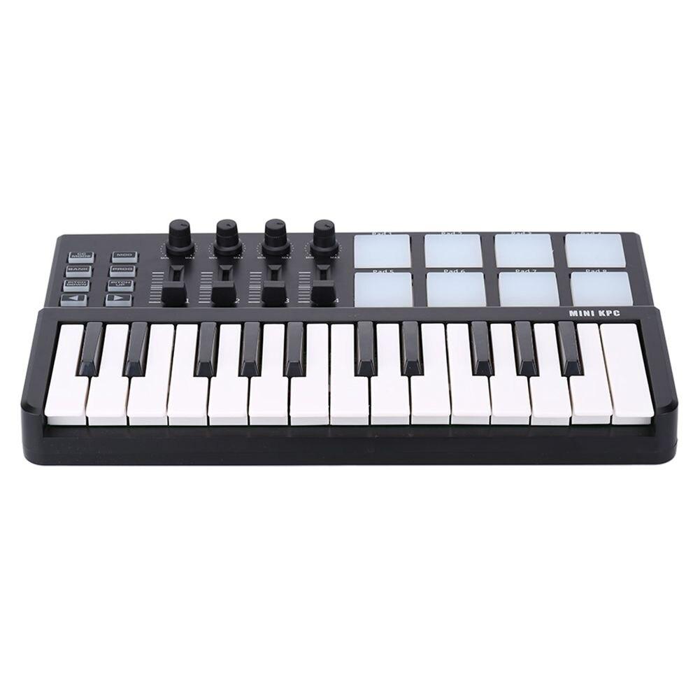 FSTE-WORLDE Panda MIDI Clavier 25 Touches Mini Piano USB Clavier et Tambour Pad Contrôleur MIDI
