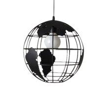 Czarny kreatywny loft continental pojedynczy retro globe żyrandol nowoczesny metaliczny salon kawiarnia dorywczo lampa sufitowa