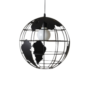 Image 1 - Lámpara de techo negra y creativa para loft continental, estilo retro, moderna lámpara de techo metálica informal para café o salón