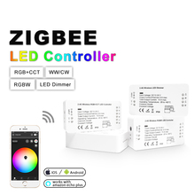 ZIGBEE ZLL RGBCCT RGBW RGB WWCW Dimmer Controller,DC12/24V,APP control,Color and Brightness Adjustable,for LED Strip