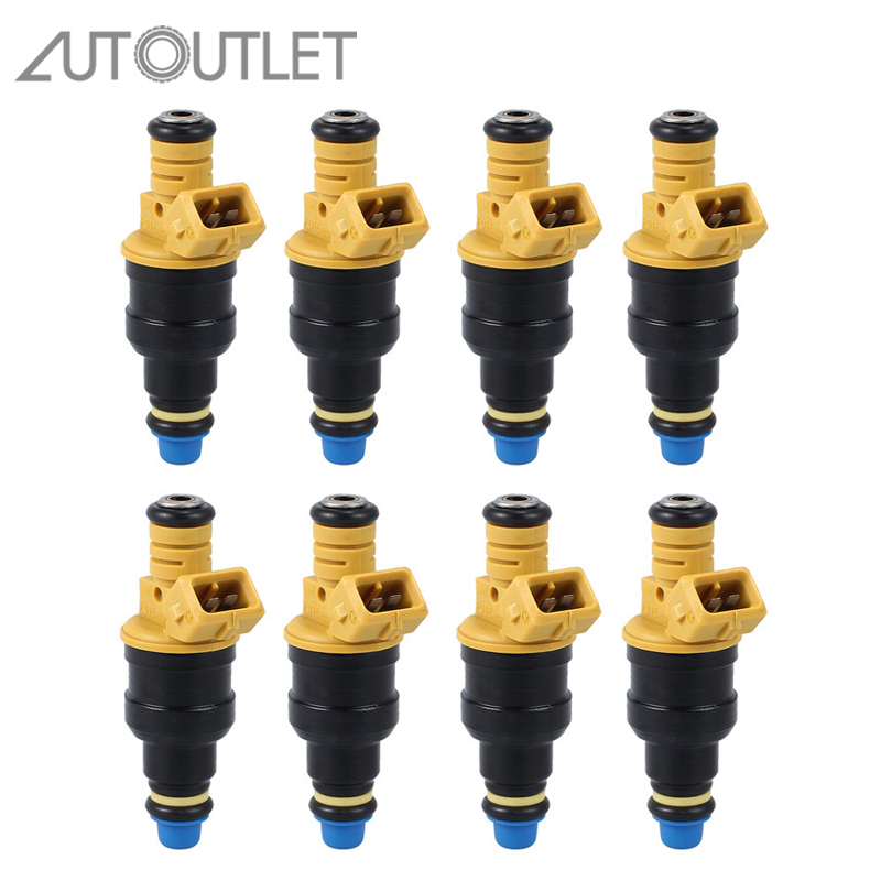 Set of 8 Fuel Injectors 0280150943 for Ford 4.6 5.0 5.4 5.8 F150 F250 Replaces