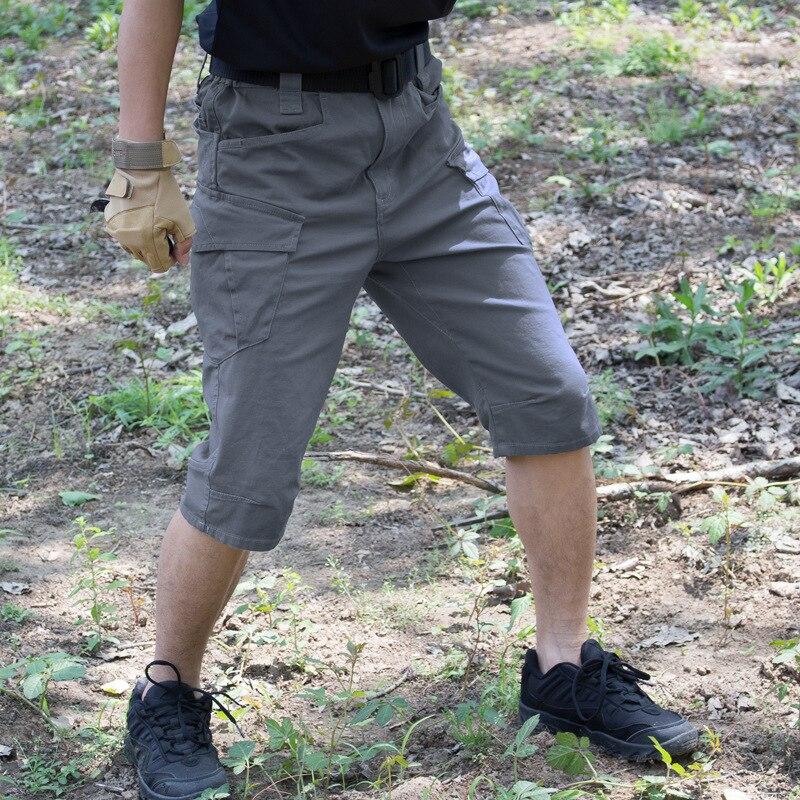 Fan Army Tactical Shorts & Mens Pantaloni Da Trekking All'aria Aperta D'estate Elasticizzato Traspirante Multi-tasca Cotone Di Combattimento Formazione Pantaloni Corti