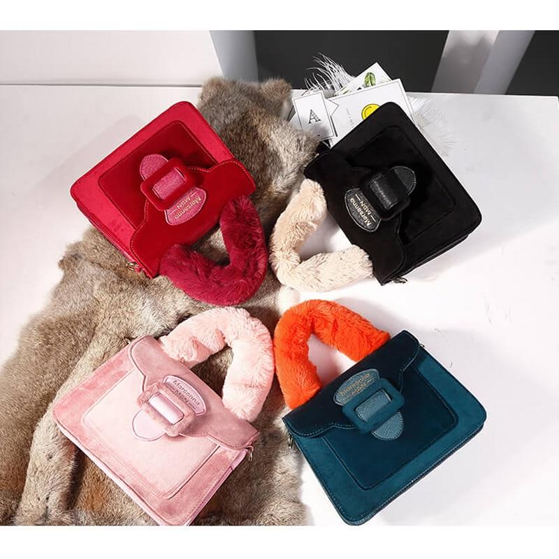 7a0ede9267cb US $20.87 31% OFF|Coofit Faux Fur Bag Handle Mink Bag Strap Women Fashion  Flap Cover Handbag Messenger Satchel Bags Female Luxury Top Handle Bags-in  ...