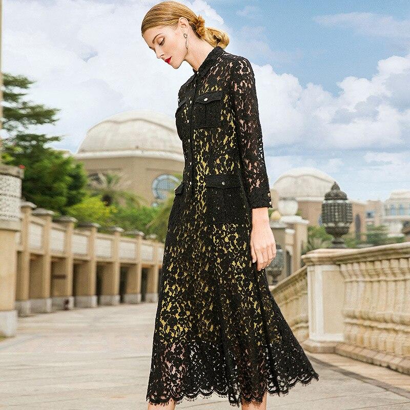 POKWAI High Quality New Spring Dress Sleeveless Underwear Dress Lace Full Sleeve Dress Two Pieces