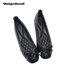 Classical Black Ballet Flats Woman Retro Square Toe Flat Shoes Shallow Mouth OL Work Comfortable Light Weight