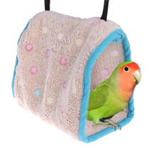 3 Sizes Bird Hanging Cotton Roost Bird's Nest Hamster Hammock Triangular Nests Cave Cage Plush Hut Tent Bed Bunk Parrot Toy(China)