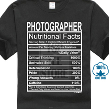 b5126a8d Men'S T Shirt Photographer Gift Nutritional Facts Gag Gifts Funny Young  Mens T Shirt Fashion T