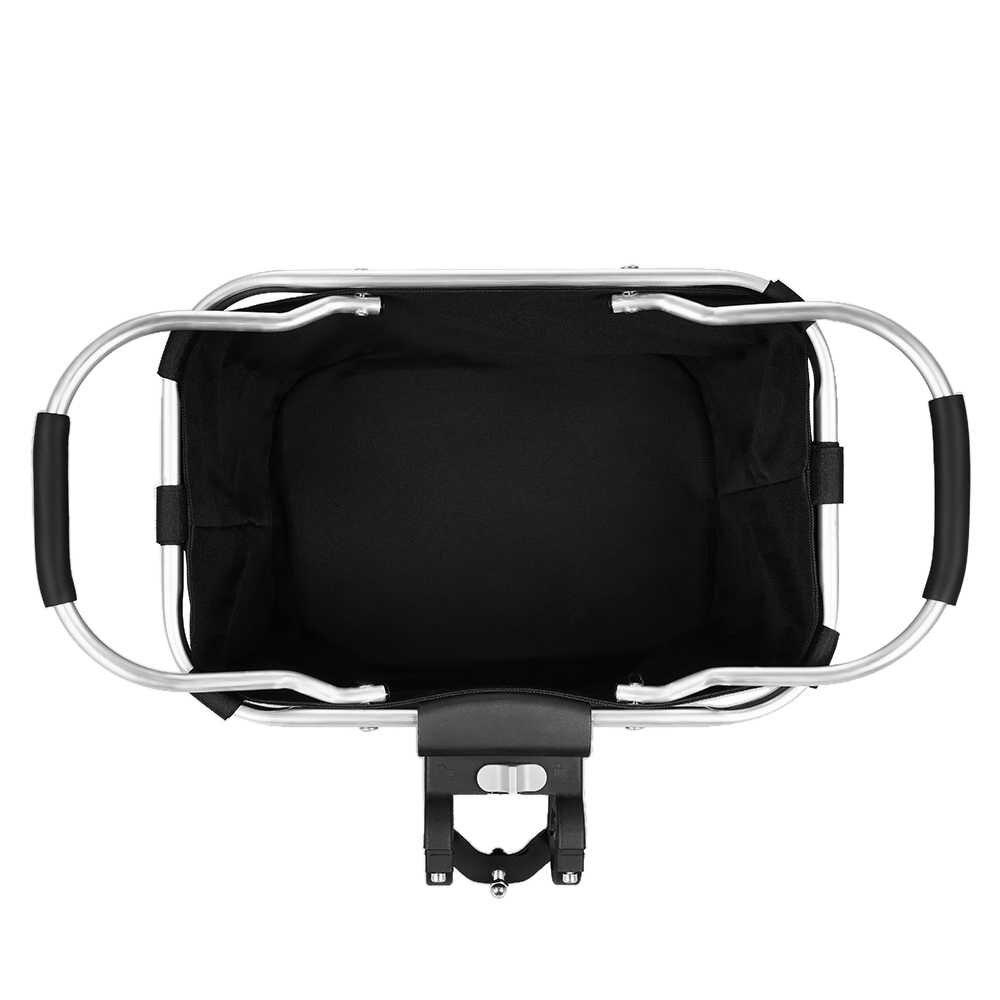 Велосипедная передняя корзина складной съемный велосипедный руль корзина для домашних животных кошка собака переноска сумка алюминиевая рама верхние ручки сумки