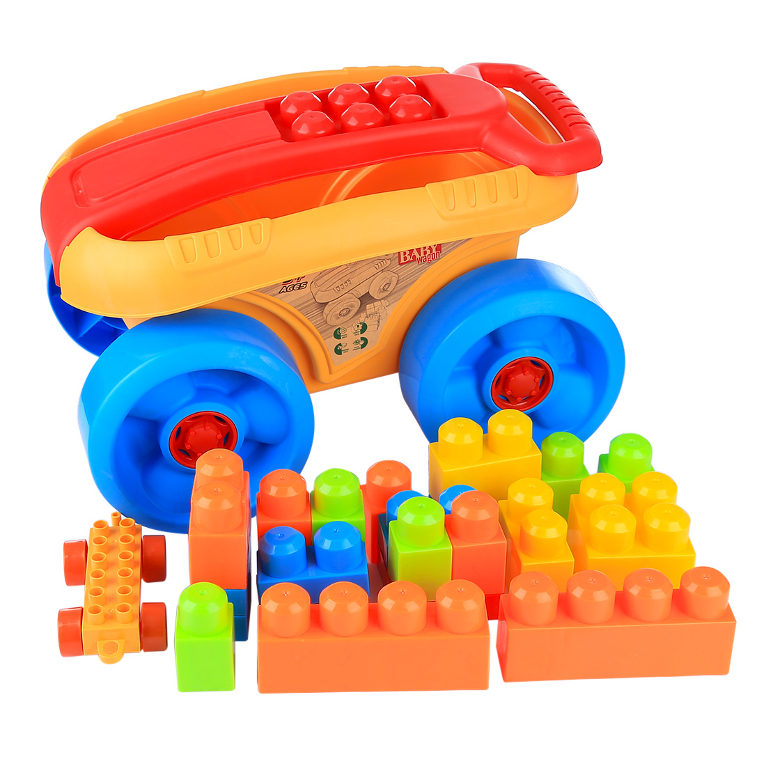 Hot Sale 22Pcs Outdoor Beach Sand Wagon Toys Playset Children Playing Toys Gift For Kids Toy For Children (Parts Random Color)