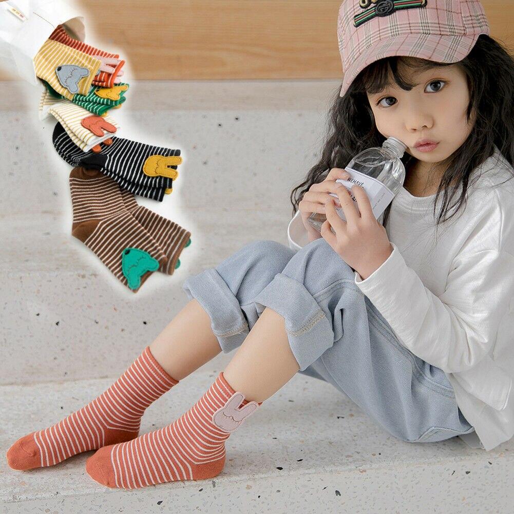 Der GüNstigste Preis Neue Mode Harajuku Candy Farbe Frauen Mädchen Jungen Casual Niedlichen Cartoon Striped Warme Socken Auswahlmaterialien Socken, Strumpfhosen & Leggings Mutter & Kinder