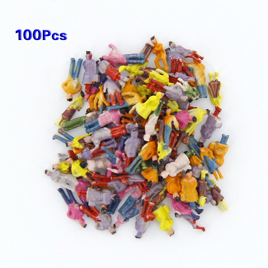 FBIL-New 100pcs Painted Model Train People Figures Scale N (1 to 150) image