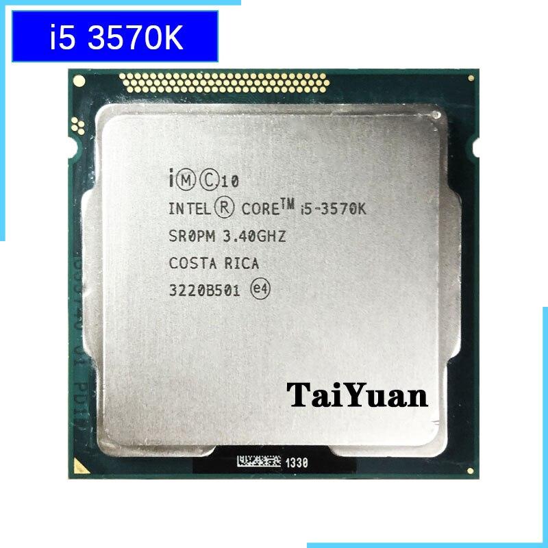 Intel Core i5 3570K i5 3570K 3 4 GHz Quad Core CPU Processor 6M 77W LGA