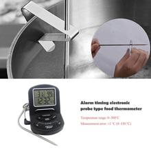 Boiling Syrup BBQ Oven Meat Temperature Probe Electronic Food Thermometer Alarm with Extended Line Food Thermometer Kitchen Tool