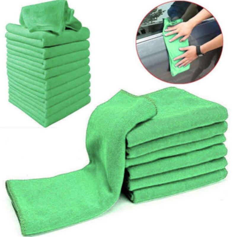 US/_ 10Pcs Microfibre Cleaning Cloth Towel Car Valeting Duster Kitchen Wash Novel