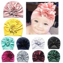 Flower Baby Girl Velvet Hats Kids Turban Pure Candy Color Ruffle Beanie Hat Baby Winter Warm Cute Cap Headband Cap Skull Beanie