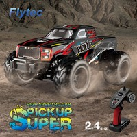 Flytec RC Car 2.4GHz 4WD Drive 35KM/H Big Foot High Speed Cars 1/12 Pick up Truck Off Road Remote Control Car For Children Gift