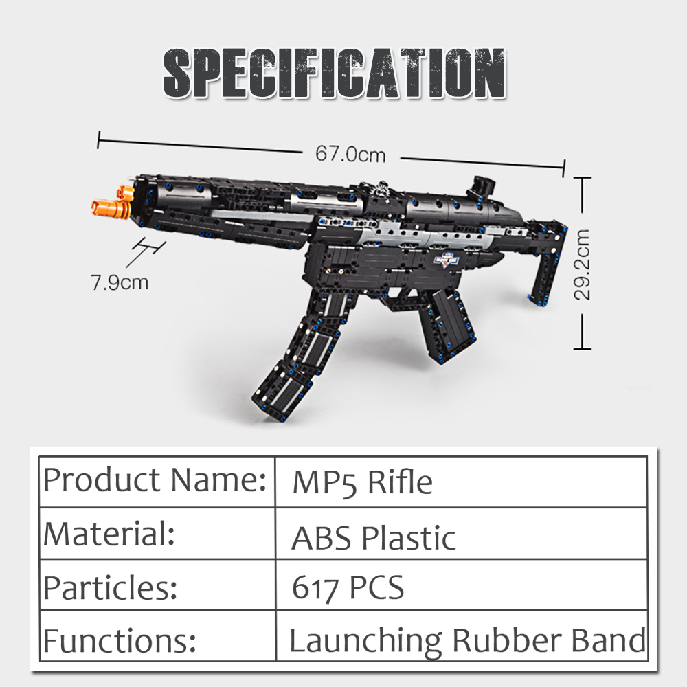 Building blocks shotgun toy Rubber band guns Rifle Model legoings Compatible military bricks weapons kids toy for children boys 1