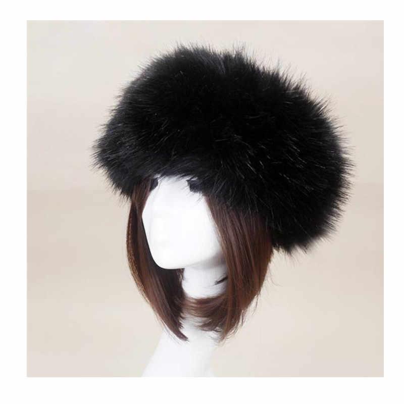 890f2a97f Women Winter Thick Fluffy Russian Cap Faux Fur Headband Hat Lady ...