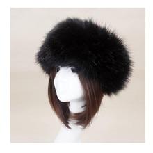 Women Winter Thick Fluffy Russian Cap Faux Fur Headband Hat Lady Winter  Warm Earwarmer Ski Hats 98403210d77