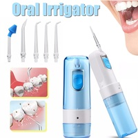 Dental Oral Irrigator Flosser Teeth Cleaner Air Power Water Jet Rechargeable Personal Care Appliance Oral Hygiene Device 150ml