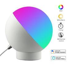 Светодиодная настольная лампа Smart Wifi с голосовым управлением, светодиодный ночсветильник с защитой глаз, настольные ночные мини лампы Alexa Google Home, светодиодная настольная лампа