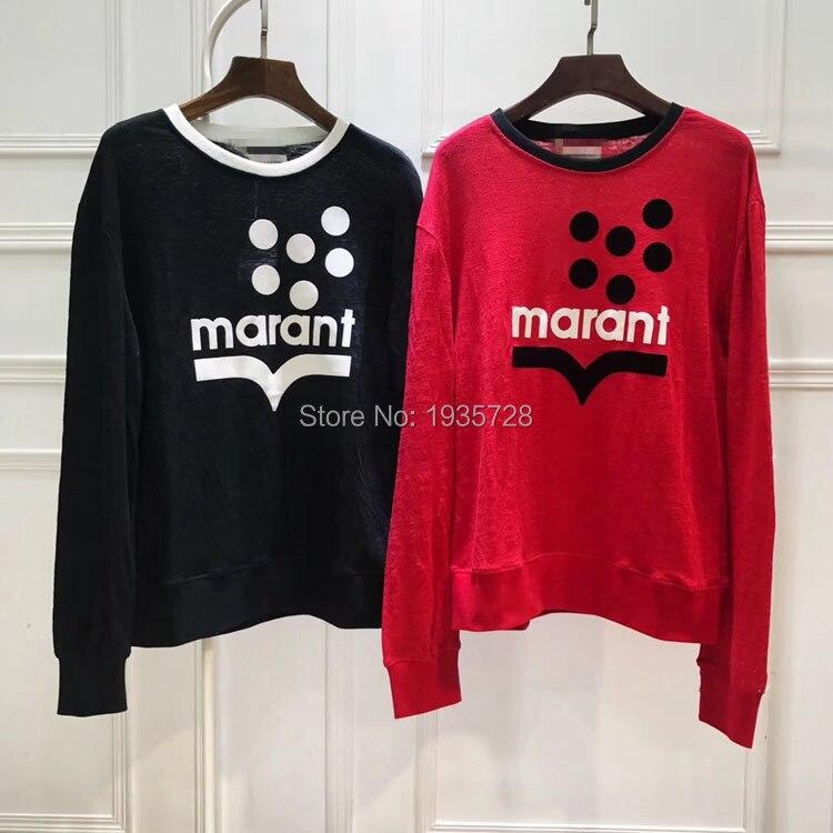 2018 Avant shirt Linge Noir Longues Logo cou Casual T Manches T Pour Pulls Pointillé Klowyn Blanc O shirts Velours Patch Femme Top IwwqXf1