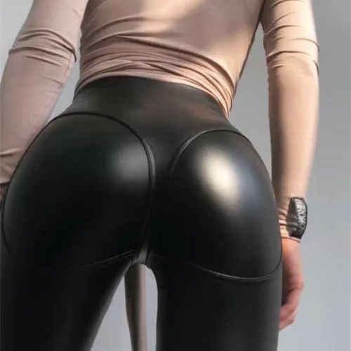 9de309045a Detail Feedback Questions about New Women Sexy Leather Legging High Waist Fitness  Leggings Lady Clubwear Workout PU Leather Trousers Skinny Stretch Pants ...