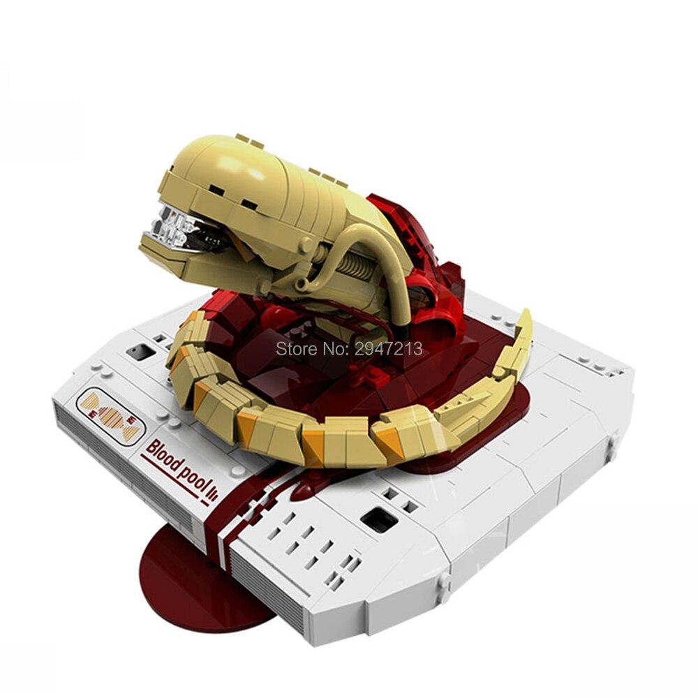 Chaude LegoINGlys créateurs Alien monstre film robinet piscine de Sang MOC modèle de Blocs De Construction briques jouets éducatifs pour enfants cadeau