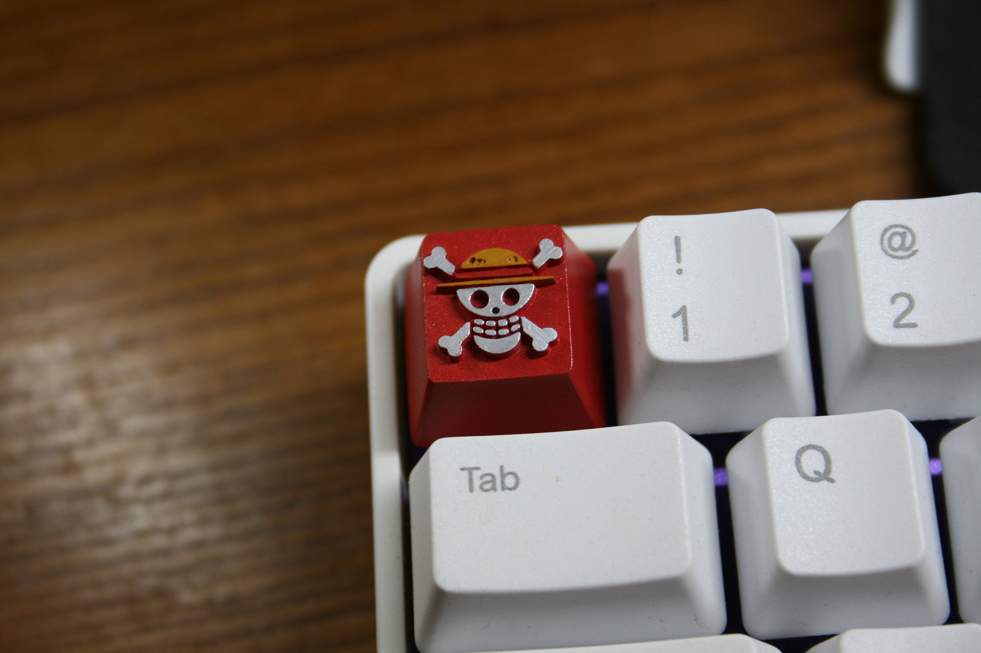 1pc Customized 3D Stereoscopic Resin Mechanical Keyboard Key Cap For ONE PIECE Luffy Resin Keycap