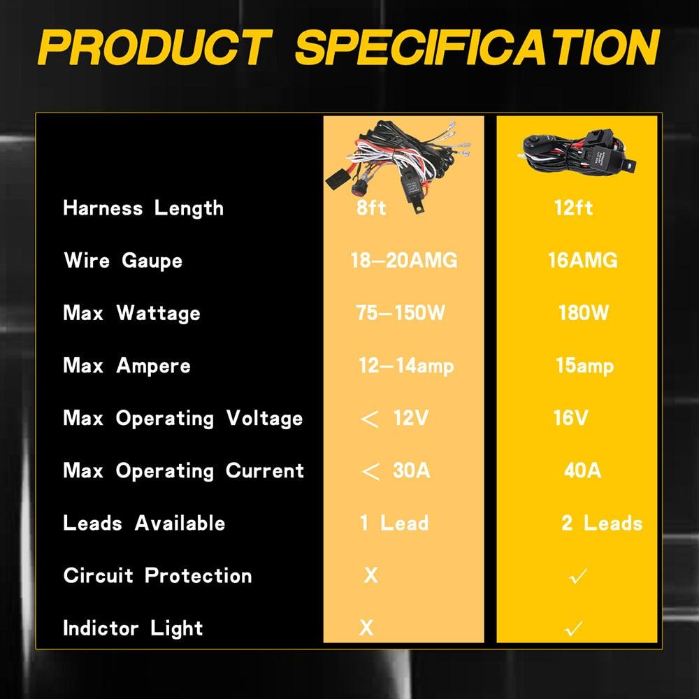 Vehemo 9-16 V подключения 2 светодиодный комплект жгута проводов линии установите переключатель профессиональный кабель светодиодный работа дальнего света фар