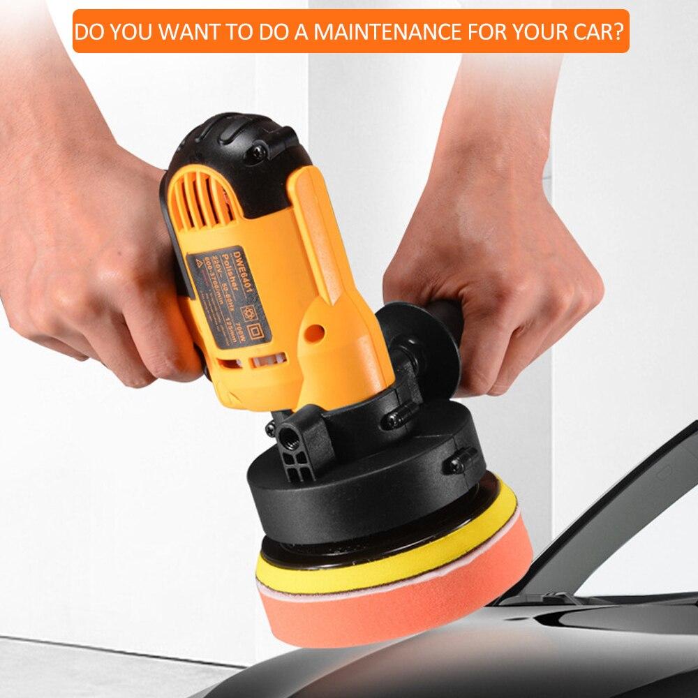 Image 3 - KKmoon 700W Car Polisher Grinder Mini Polishing Machine Auto Sanding Machine Orbit Variable Speed Waxing Polisher Power ToolsPolishers   -