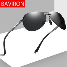 BAVIRON 2019 New Rimless Sunglasses Men Polarized Pilot 100%