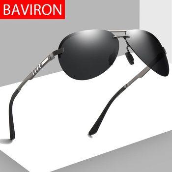 56e45b5659 BAVIRON 2019 nueva montura gafas de sol para hombres, gafas de piloto de  protección 100% contra los rayos UVA y UVB clásico de los hombres gafas de  sol de ...