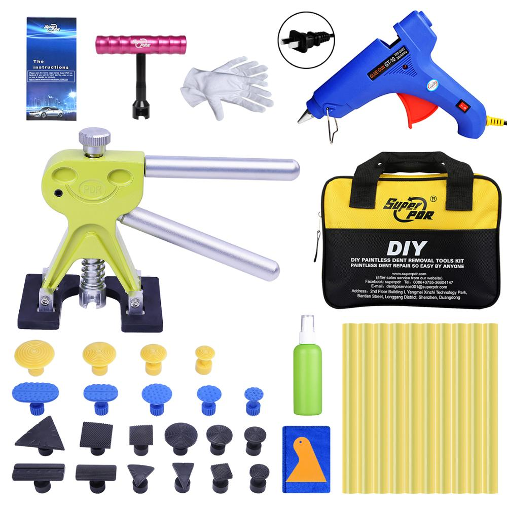 Super PDR Auto Dent Puller Suction Cup Hot Adhesive Glue Sticks For Hot Melt Glue Gun Hail Dent Removal Tools Ferraments Toolkit super pdr tools dent removal kit for car dent puller suction cup glue sticks for hot melt glue gun line board pump wedge air bag