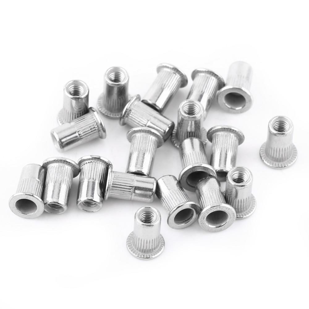Rivet Nuts Flat Head Aluminum Threaded Blind Insert Rivnut sert Screw Stainless Steel M3-M8 M5