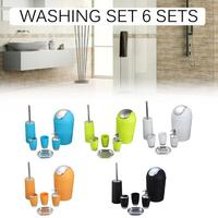 Home Health Life Portable Five color Wash Bathroom Set 6 Piece Set Gift