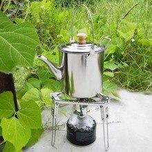 2000 мл кастрюля для кемпинга из нержавеющей стали чайник кофейник