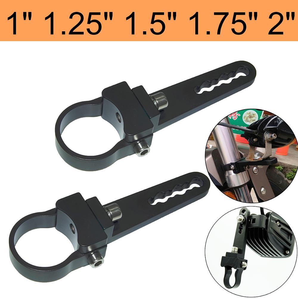 """2PCS 2/"""" LED Mount Bracket Clamp Holder Tube Bull//Roll Off Road Bar Work Light"""