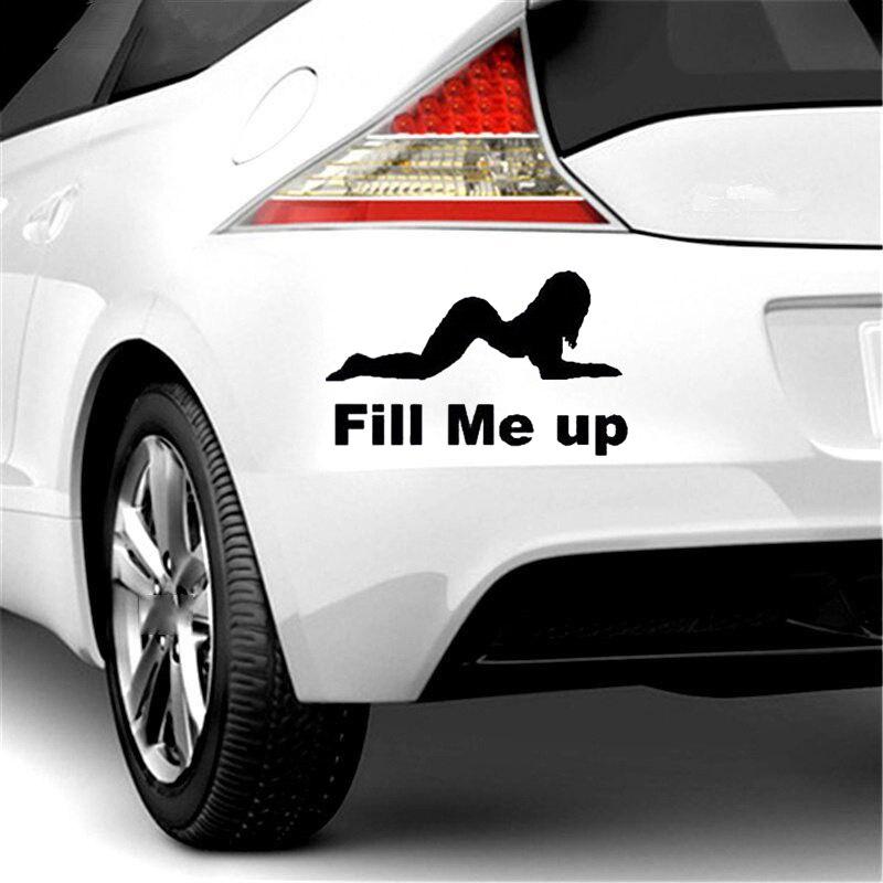Cartoon Funny Vinyl Sicker Offroad Car Petrol Cap Accessories Sticker FILL ME UP