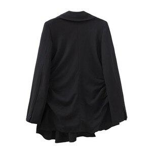 Image 5 - TWOTWINSTYLE レースアップ女性のセクシーな V ネック長袖黒ブレザー女性のコート春の秋のファッション OL 服 2020