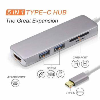BEESCLOVER עבור MacBook Pro רכזת Thunderbolt 3 עגינה תחנת USB C רכזת USB C כדי HDMI מתאם USB C רב -פונקצית מתאם R19