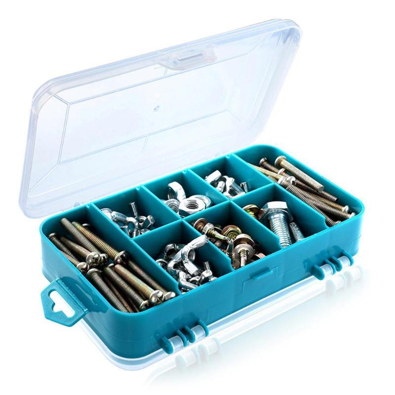 Пластиковый ящик для хранения 8 отделений портативный органайзер для хранения ящик для инструментов оборудование/коробка для хранения