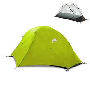 Image 4 - 3F UL Gear Camping Tent Single Person Double Layer 15D/210T Hiking Tent Waterproof 3 Season 4 Season Outdoor With Mat