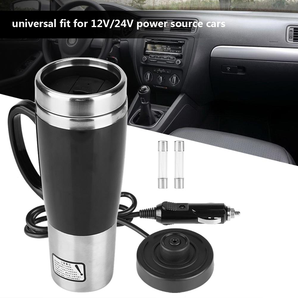 Car Electric Stainless Steel Travel Heating Cup Coffee Tea Drinking Cup Mug Black With Cigarette Lighter CableCar Electric Stainless Steel Travel Heating Cup Coffee Tea Drinking Cup Mug Black With Cigarette Lighter Cable
