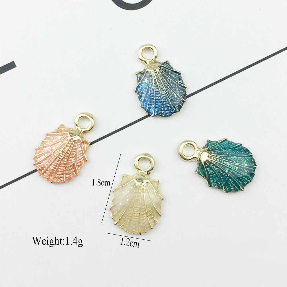 טרנדי פשוט קונכיית כוכב ים פגז תליון DIY קסמי להכנת תכשיטים באיכות סגסוגת זהב כחול אביזרי לנשים מתנות