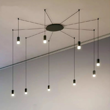 Nordic Design Geometric Lines Hanging Lamp Led Pendant Lamp Living Bedroom Restaurant Lighting Luminaire Suspension Luminaria