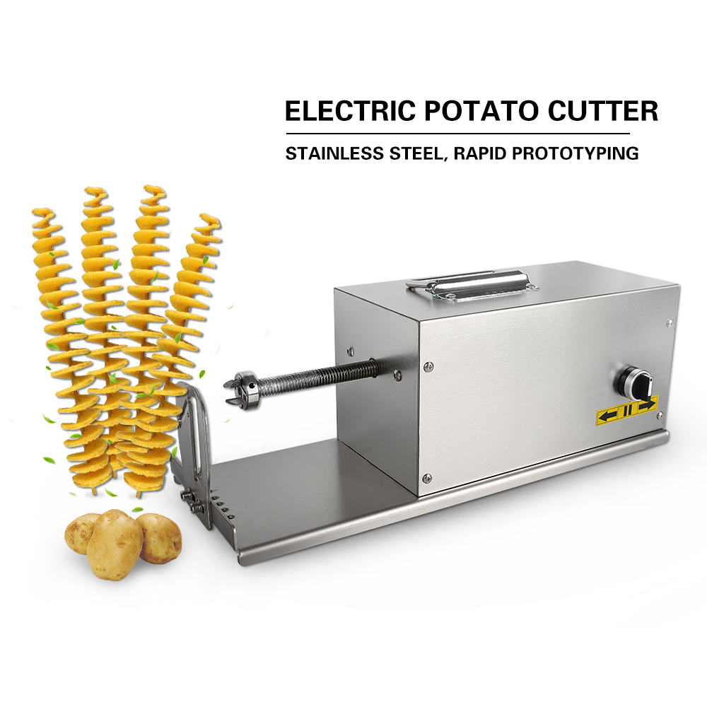 GZZT Electric Potato Slicer HE03 Stainless Steel French Fry Vegetable Cutter Automatic operation Tornado