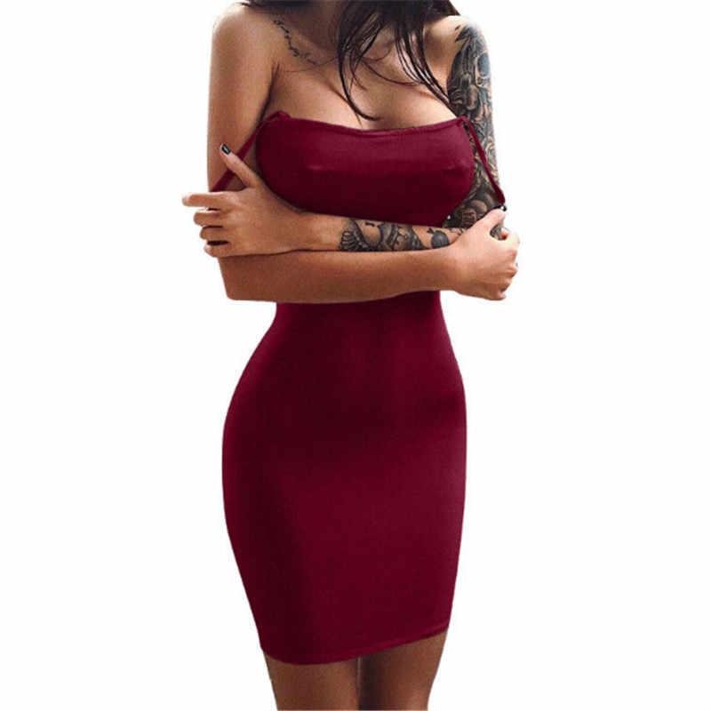 流行の女性のオフショルダーソリッド包帯ノースリーブイブニングポリエステルミニドレス 1 個