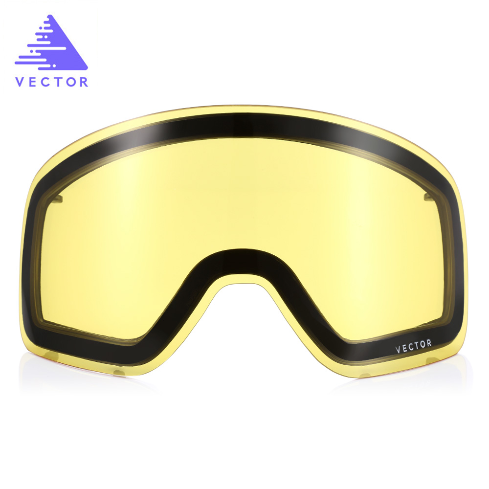 Vector Anti-Fog UV400 Skiing Goggles Lens Glasses Weak Light Tint Weather Cloudy Brightening Lens For HB 108 ACC30019
